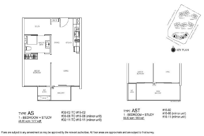 Floor Plan 1+1 BR