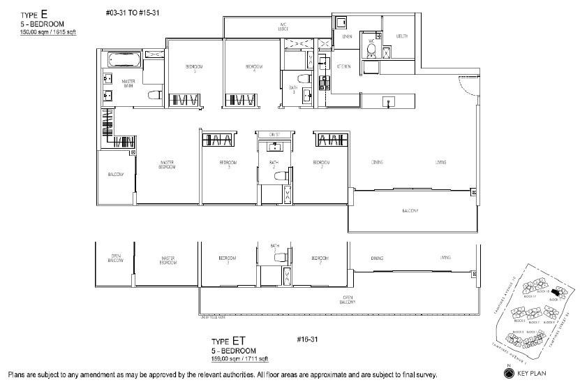 Floor Plan 5 BR