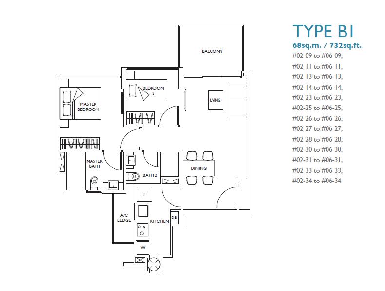 luxurie floor plan b1