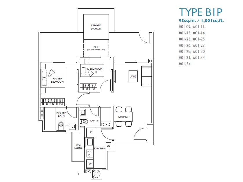 luxurie floor plan b1p