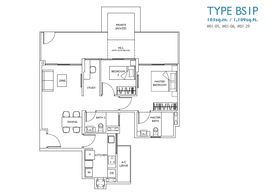 luxurie floor plan bs1p