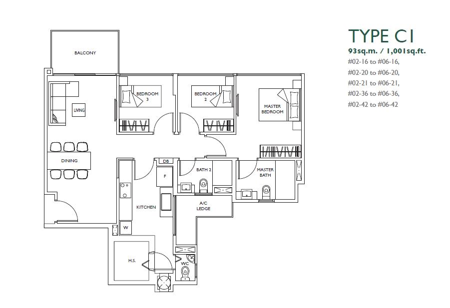 luxurie floor plan c1