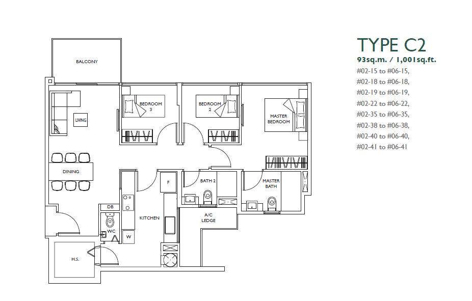 luxurie floor plan c2