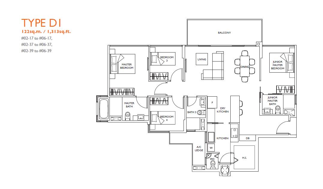 luxurie floor plan d1