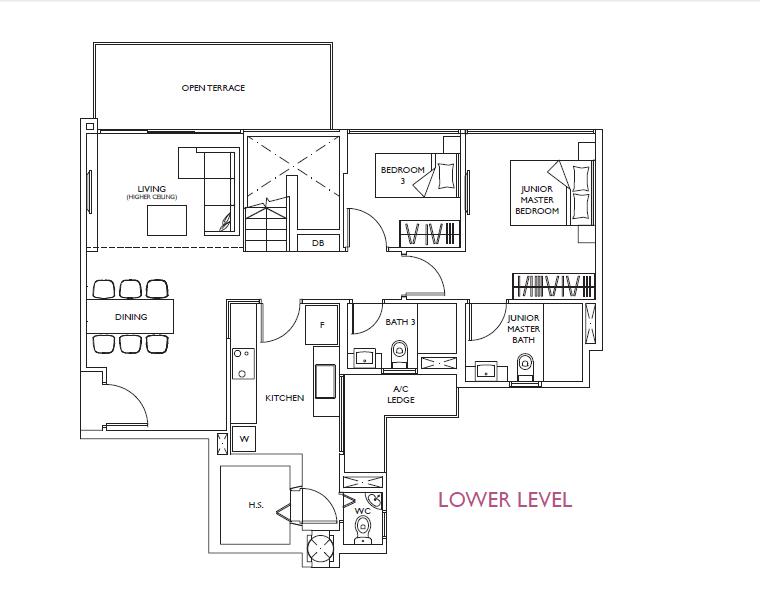 luxurie floor plan ph1 lower