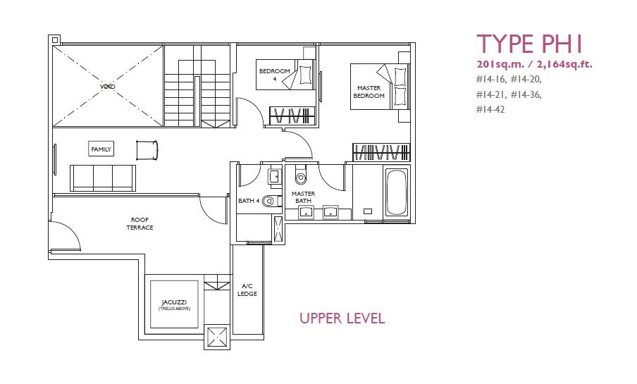 luxurie floor plan ph1
