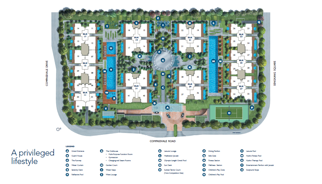 luxurie site plan