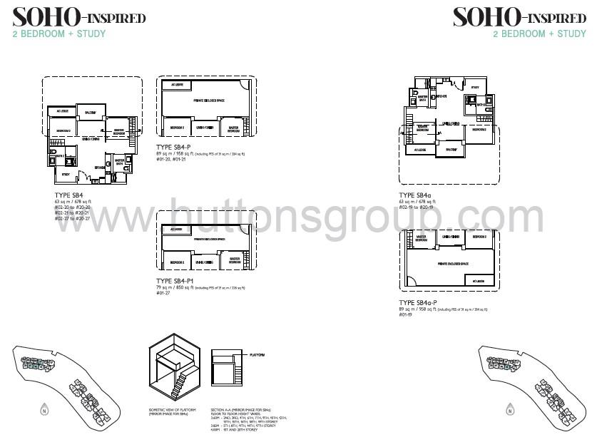 j gateway soho 2 br + s layout