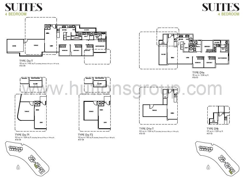 j gateway suites 4br