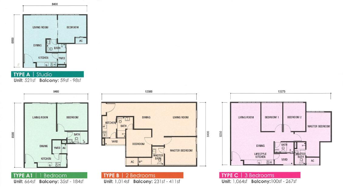 Meridian @ Medin floor plan