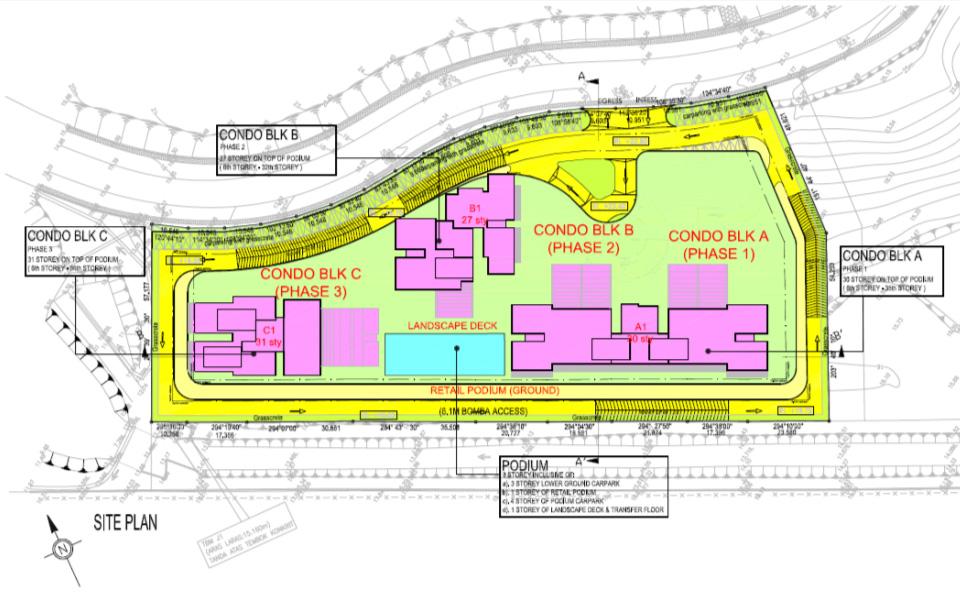 Meridian @ Medini site plan