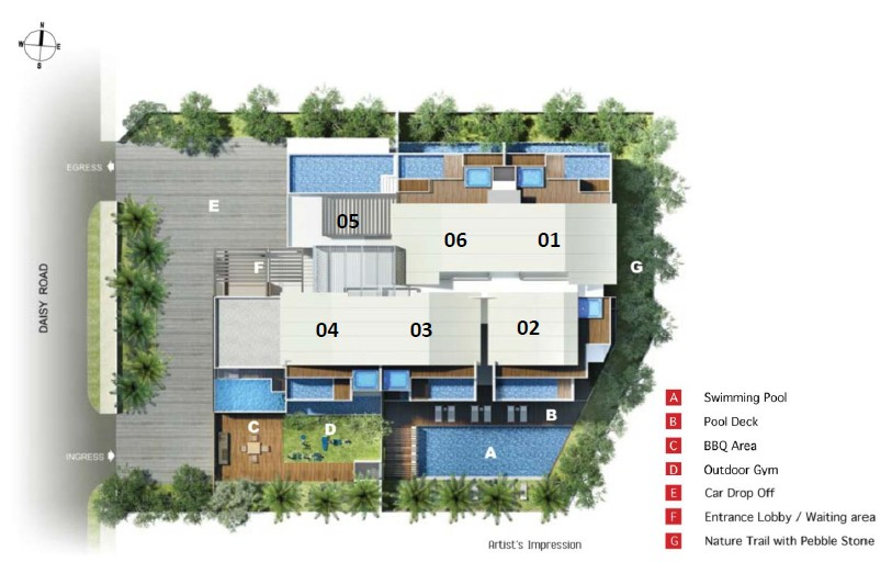 daisy suites site map